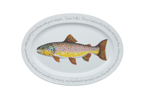 Brown Trout Large Oval Platter