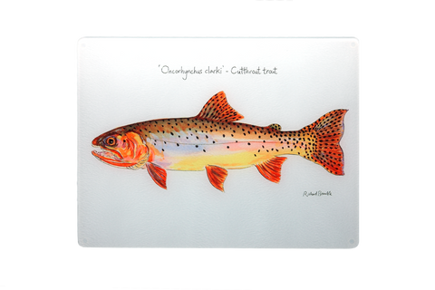 Cutthroat Trout Glass Chopping Board