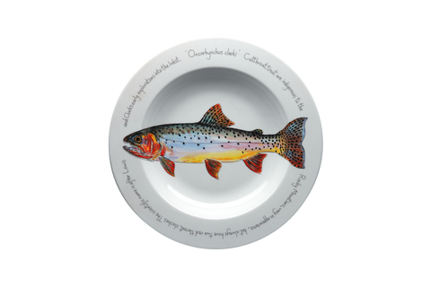 Cutthroat Trout Rimmed Pasta Bowl