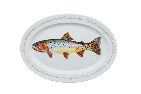 Cutthroat Trout Large Oval Platter