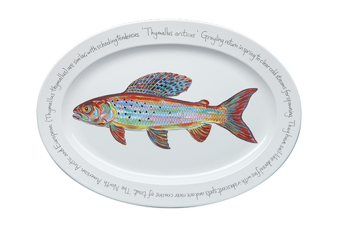 Arctic Grayling Large Oval Platter