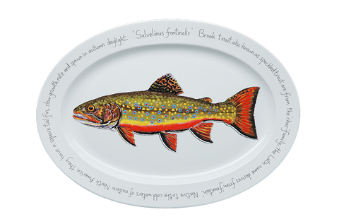 Brook Trout Large Oval Platter