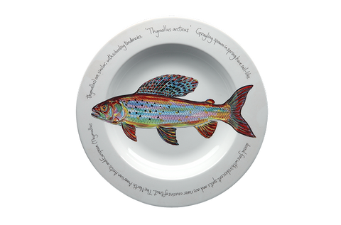 Arctic Grayling Rimmed Pasta Bowl
