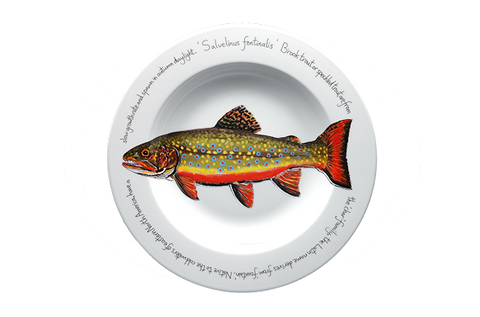 Brook Trout Rimmed Pasta Bowl
