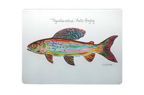 Arctic Grayling Glass Chopping Board