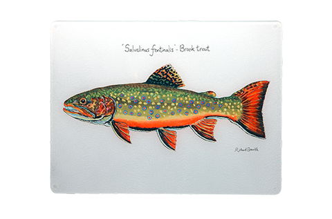 Brook Trout Glass Chopping Board