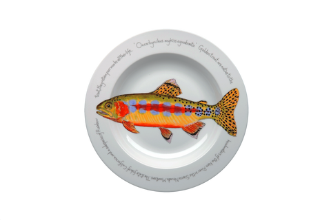 Golden Trout Rimmed Pasta Bowl