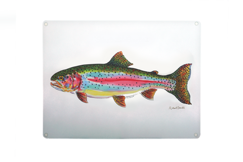 Rainbow Trout Glass Chopping Board