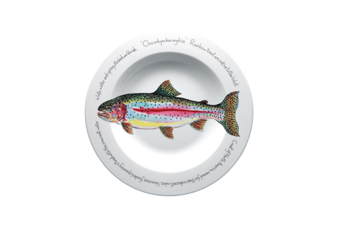 Rainbow Trout Rimmed Pasta Bowl