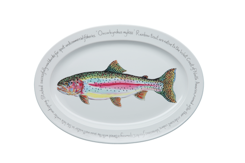 Rainbow Trout Large Oval Platter