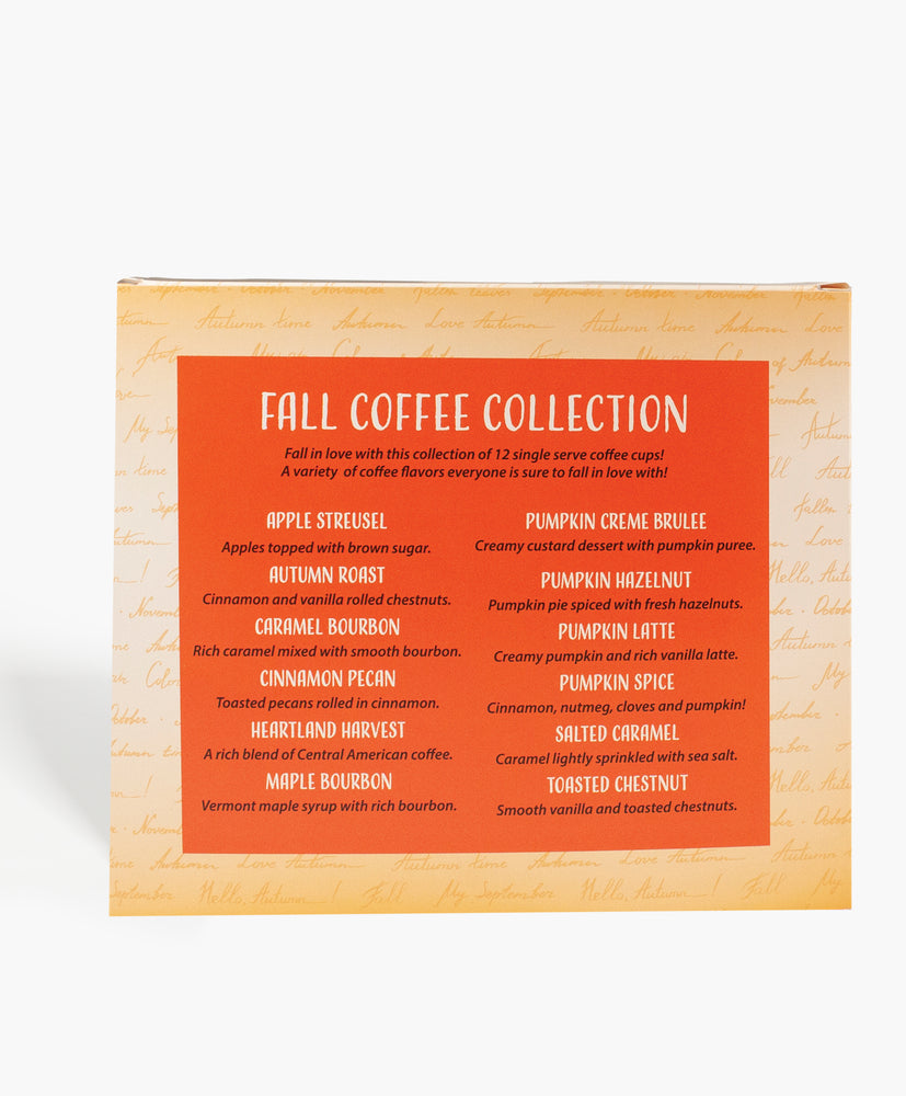 12 Single Serve Fall Collection