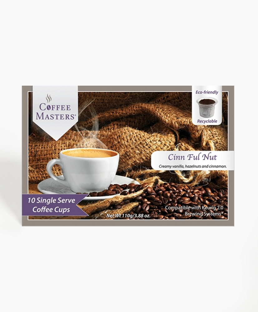 Cinn Ful Nut 10 Count Single Serve Coffee Box