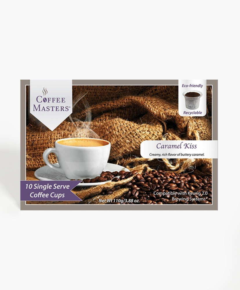 Caramel Kiss 10 Count Single Serve Coffee Box