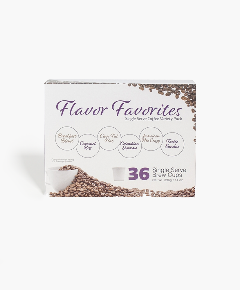 Flavor Favorite 36 Count Single Serve Coffee Box