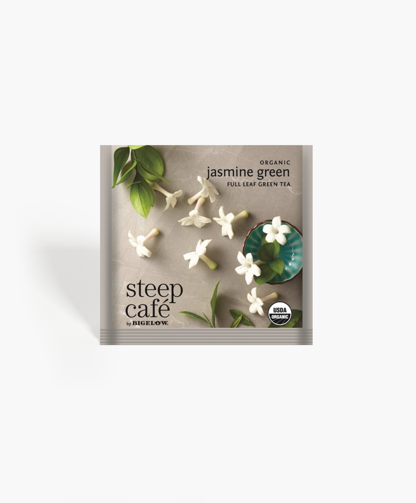 Steep Cafe - Organic Jasmine Green Tea Bags
