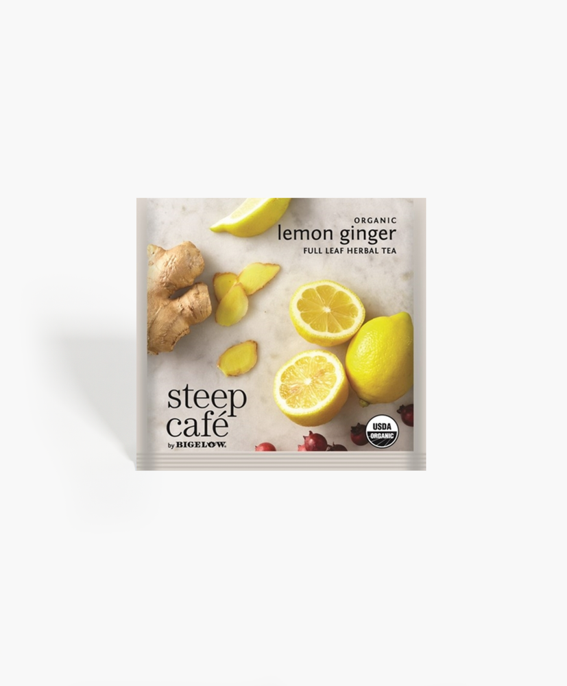 Steep Cafe - Organic Lemon Ginger Tea Bags
