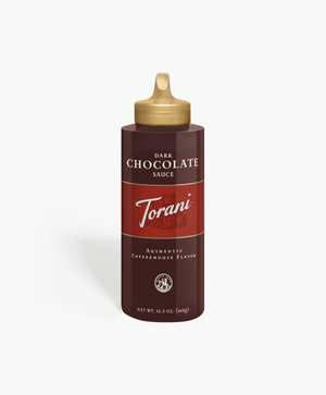 Torani 16.5 oz Squeeze Bottle Dark Chocolate