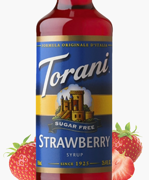 Load image into Gallery viewer, Sugar-Free Strawberry Torani 750 ml Syrups