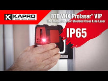 Load and play video in Gallery viewer, 870 VHX PROLASER® VIP Cross Laser Level IP65 (Red)