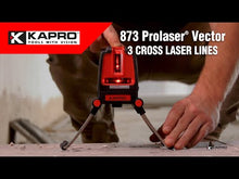 Load and play video in Gallery viewer, 873 PROLASER® VECTOR Cross + 90° Laser level (Red)