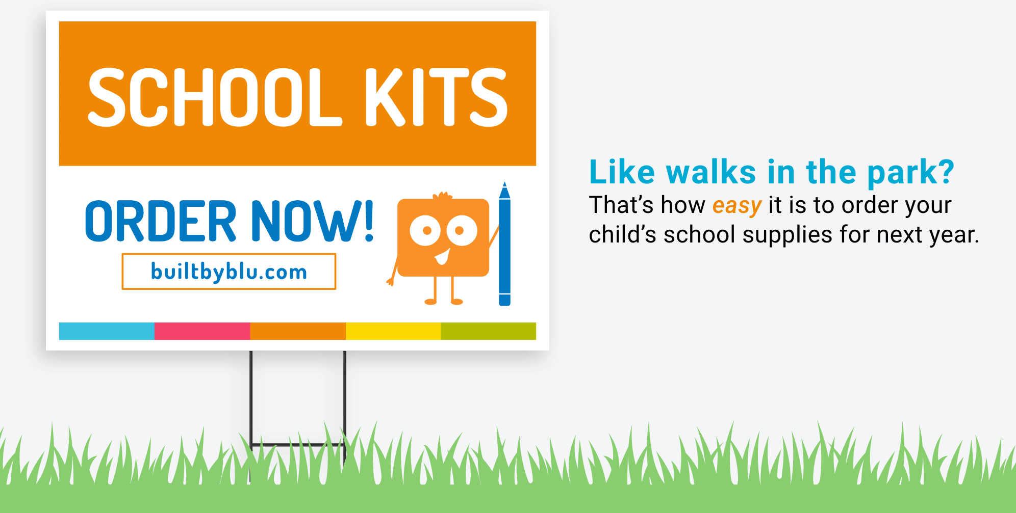 Free marketing materials with BLU School Supplies