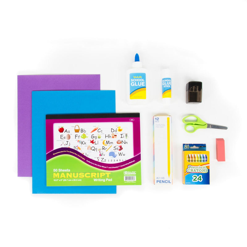 Kindergarten School Supply Kit Sold in Bulk