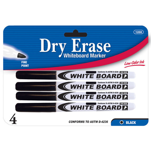 Wholesale School Supplies Fine Tip Black Dry Erase Markers Sold in Bulk