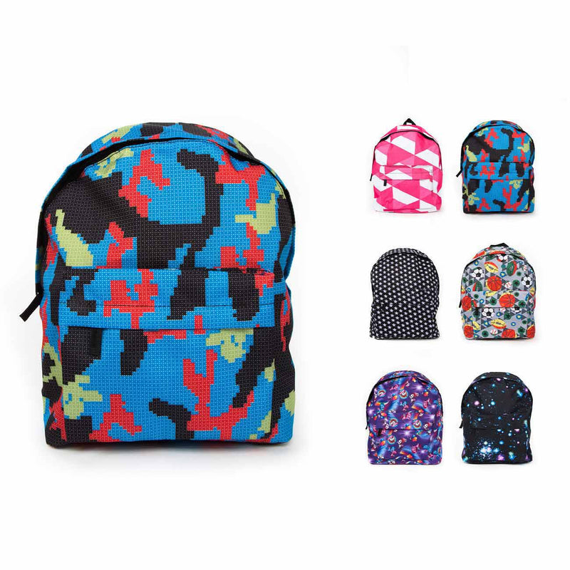 Economy Patterned Backpacks in Bulk