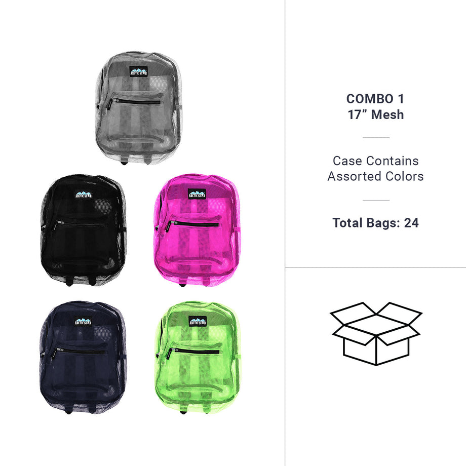 Assorted Colors - 10000 Wholesale Mesh Backpacks Sold in Bulk