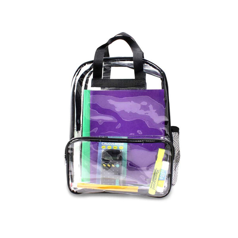 "24 Wholesale 18"" Clear Backpacks"