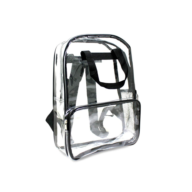 Black Wholesale 18 inch Clear Bulk Backpacks