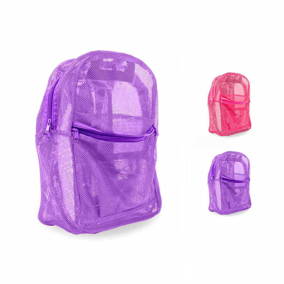 Combo 1 18 Inch Mesh Backpacks with Bulk School Supply Kits