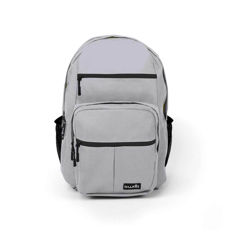 Gray with Yellow Wholesale Backpack Sold in Bulk