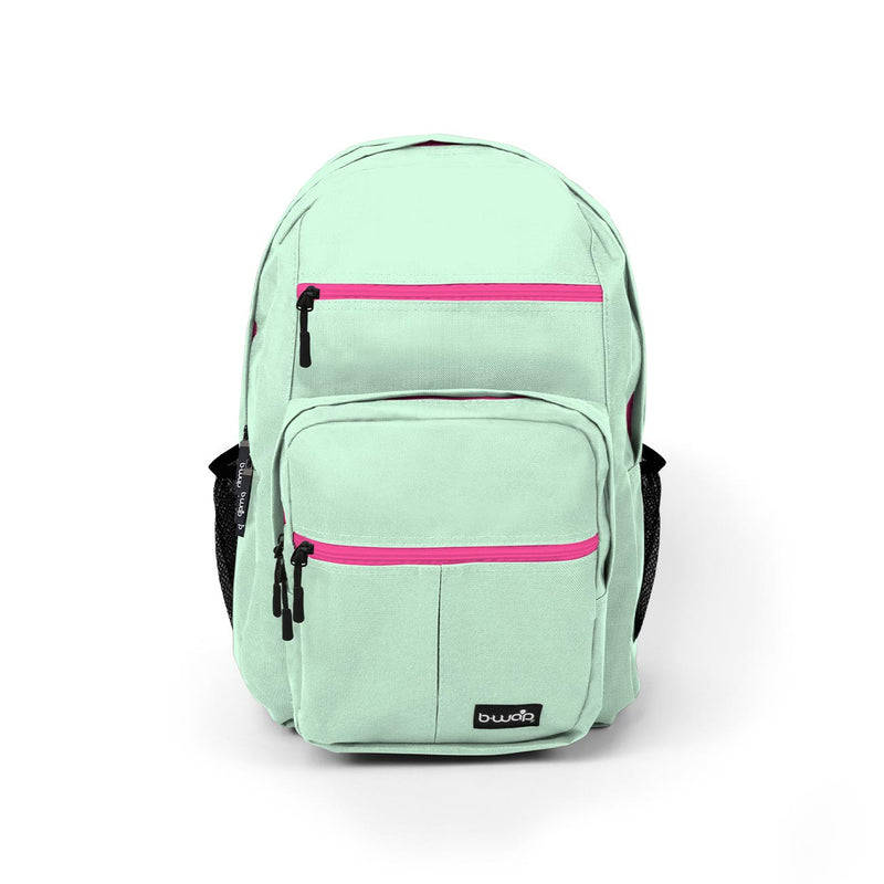 Mint with Fuchsia Wholesale Backpack Sold in Bulk