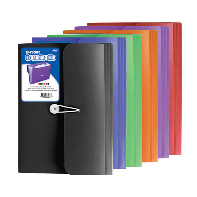 Assorted Colors Discount Expanding File Bulk School Supplies