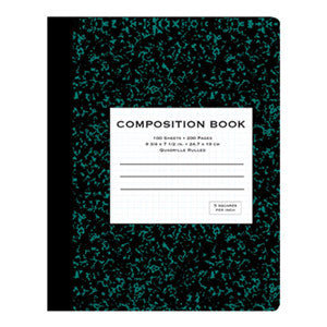 Black QR Composition Notebook Sold in Bulk for School Supplies