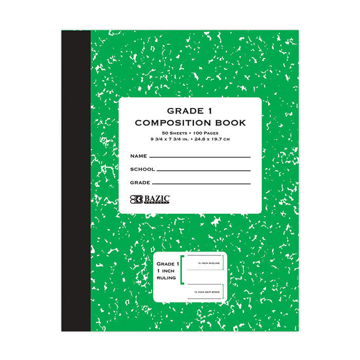 Grade 1 Primary Composition Notebook Sold in Bulk for School Supplies