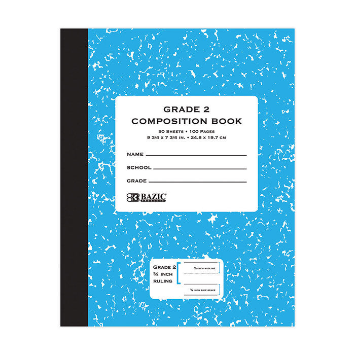 Grade 2 Primary Composition Notebook Sold in Bulk for School Supplies