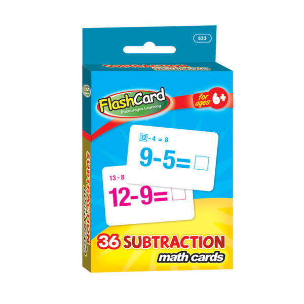 Wholesale School Supplies Subtraction Flash Cards Sold in Bulk