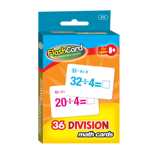 Wholesale School Supplies Division Flash Cards Sold in Bulk