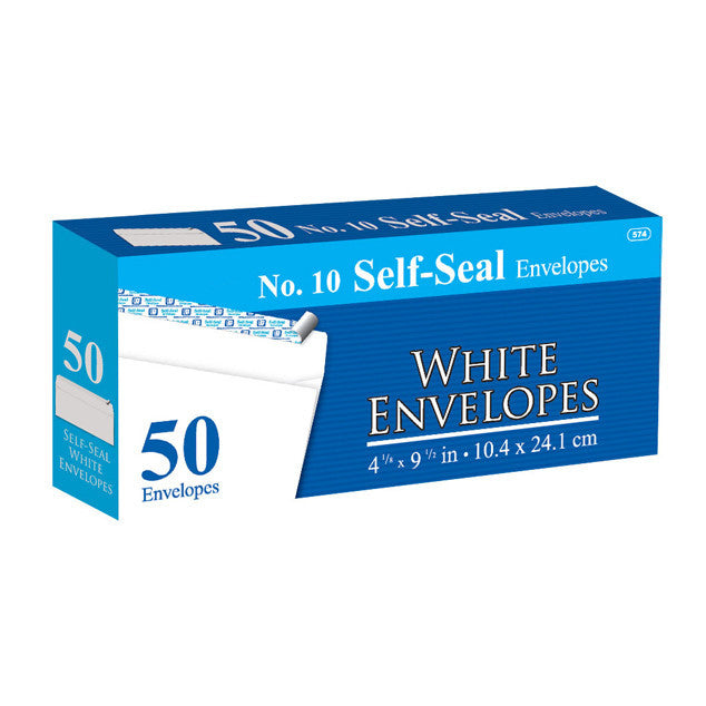 Self-Seal White Envelopes Sold in Bulk for School Supplies