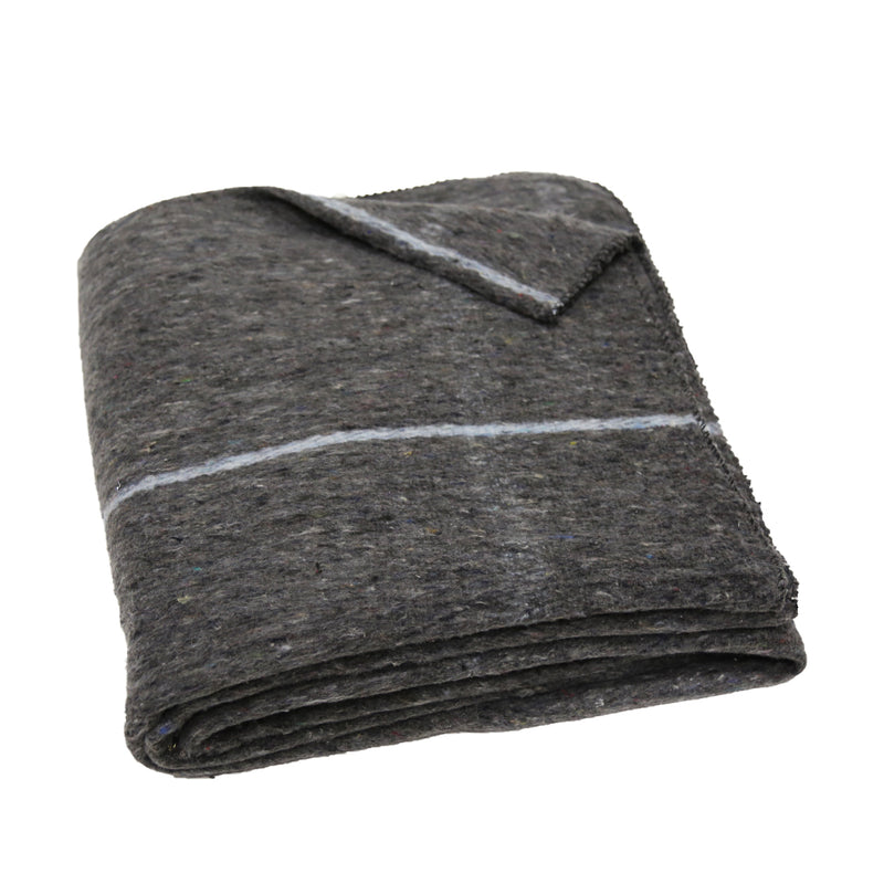 Winter Product Blanket Gray with Blue Sold as Bulk Wholesale