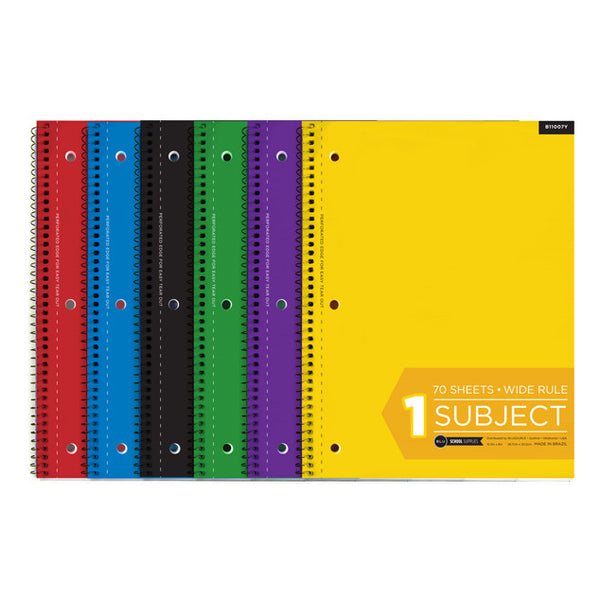 Wide Ruled Spiral Notebook