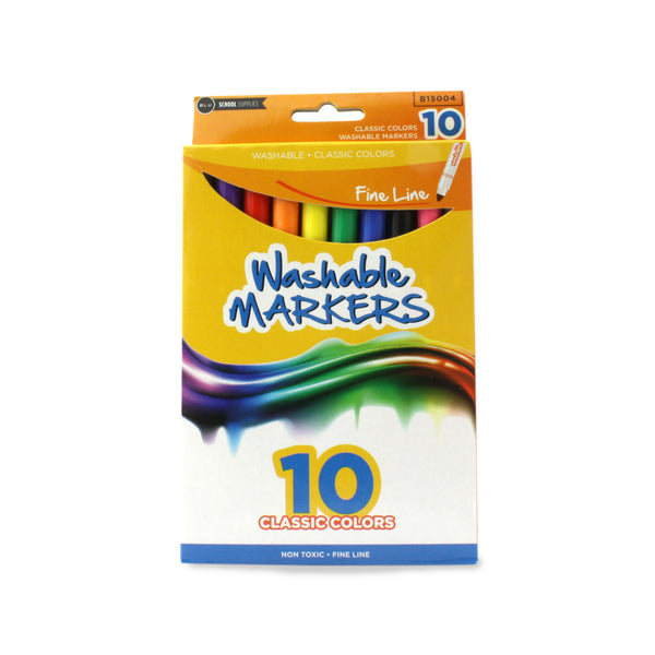 Wholesale School Supplies Fine Point Washable Markers Sold in Bulk