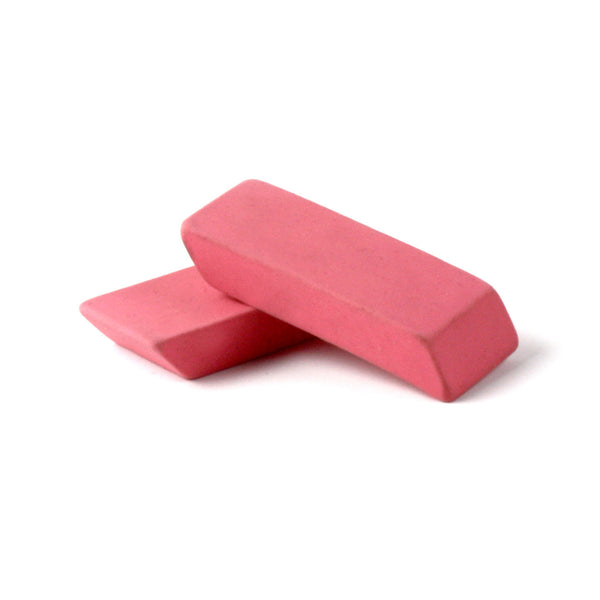 Pink Latex-Free Beveled Erasers School Supply