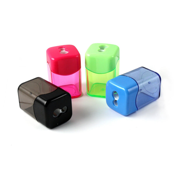 Dual Blade Barrel Pencil Sharpener for Bulk School Supplies