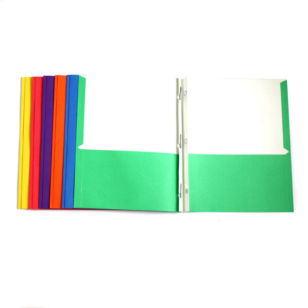 Discount Classroom Supplies Paper Folder with Brads Sold in Bulk
