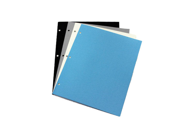 Paper Folders With Holes Assorted Colors
