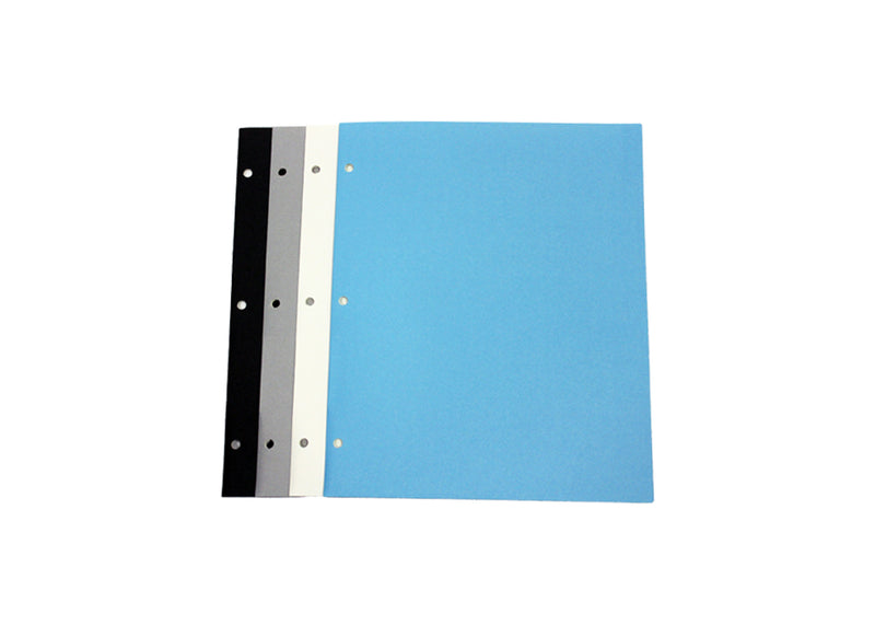 Black White Blue Gray Paper Folders With Holes Sold In Bulk for Students