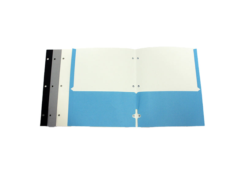 2 Pocket Paper Folders With Holes Wholesale for Classroom Multiple Colors